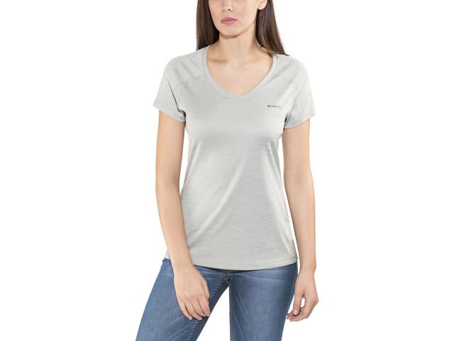 Columbia Zero Rules Camiseta manga corta Mujer, columbia grey heather